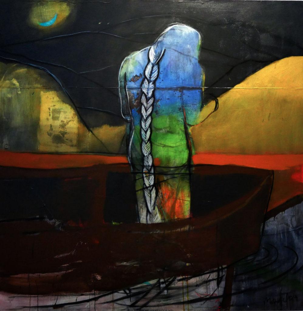 Isla infinita. Acrílico lienzo. 200 x 200 cm. 2017